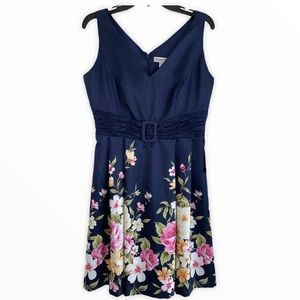 NWT COLDWATER CREEK Satin Floral Tea Party Dress